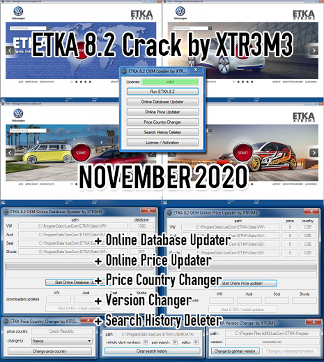ETKA 8.3 Update incl. Crack