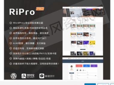 WordPress日主题ripro6.7最新破解版全网独家首发!