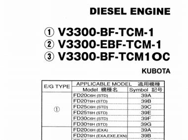 TCM V3300零件目录-TCM V3300 PARTS CATALOGUE
