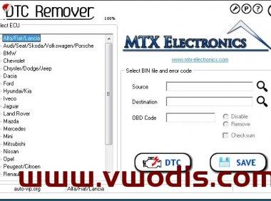MTX DTC Remover v1.8.5.0 + Keygen + Instruction